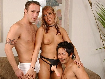 Strap On bisex Threesome