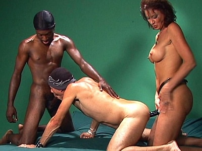 Interracial bisex Threesome