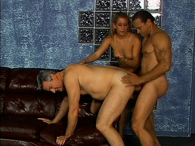 Blonde hottie Bisexual Threesome